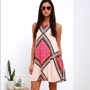 MINKPINK African Trance Multicolored Mini Dress